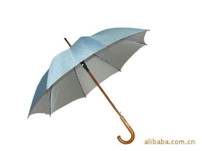 广告伞长柄伞,木杆木柄雨伞生产定制,弯把直杆雨伞