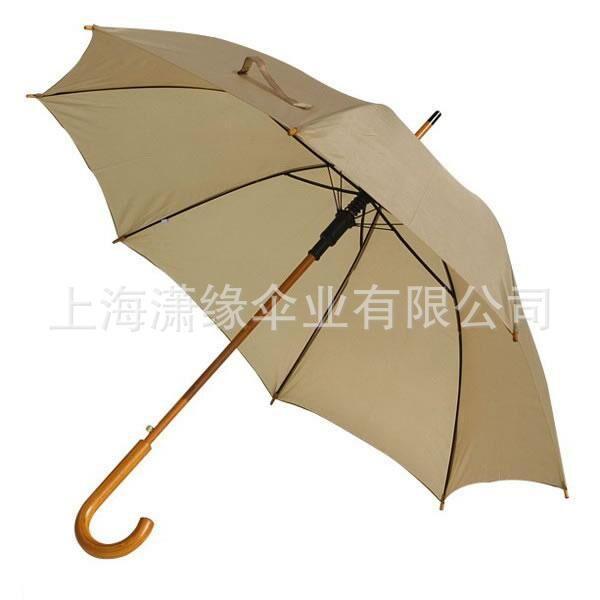 弯柄伞定制 木柄伞订做 广告礼品伞定制