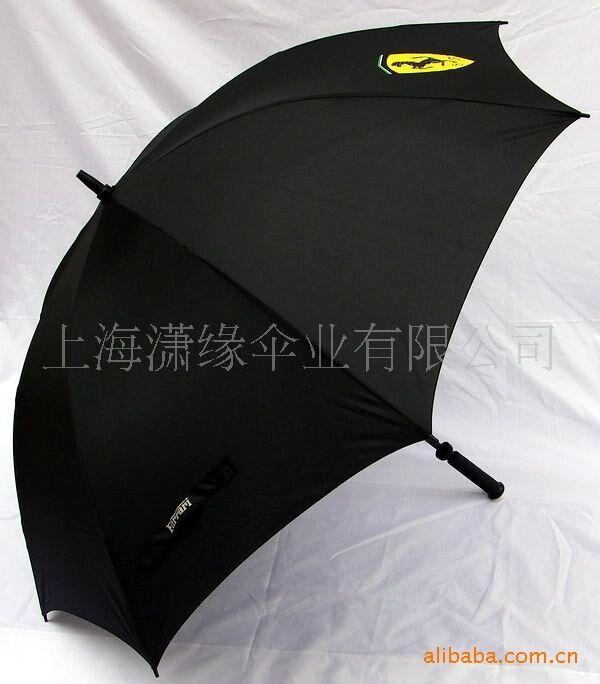 汽车公司礼品伞制作、纤维骨架高尔夫伞广告礼品伞生产定做