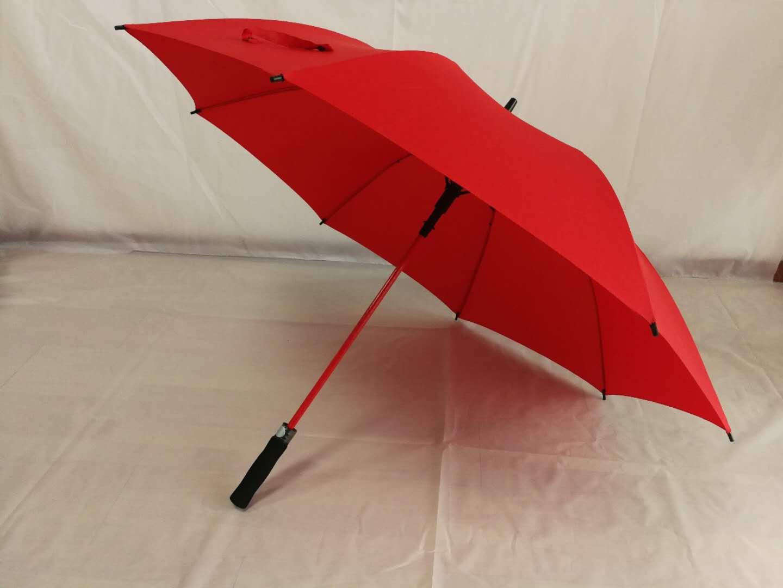 定制彩色玻璃纤维高尔夫伞、彩纤骨直杆防风自动晴雨伞源头厂家