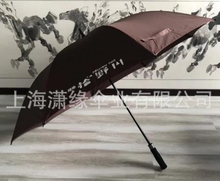 专业定做高尔夫伞、纤维骨超大号直杆伞商务晴雨伞定制logo