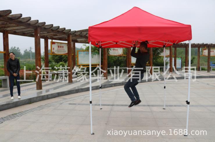 2*2米半自动折叠式广告帐篷 2×2米户外展览帐篷
