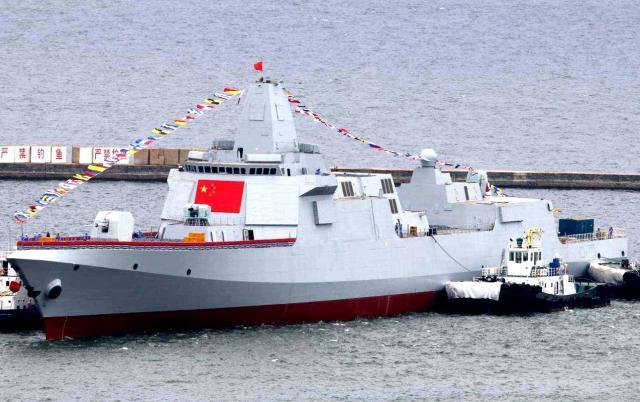 """052D""""太原""""舰参加日本阅舰式..."""